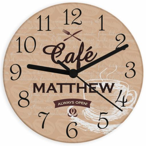Personalised Bistro Glass Clock