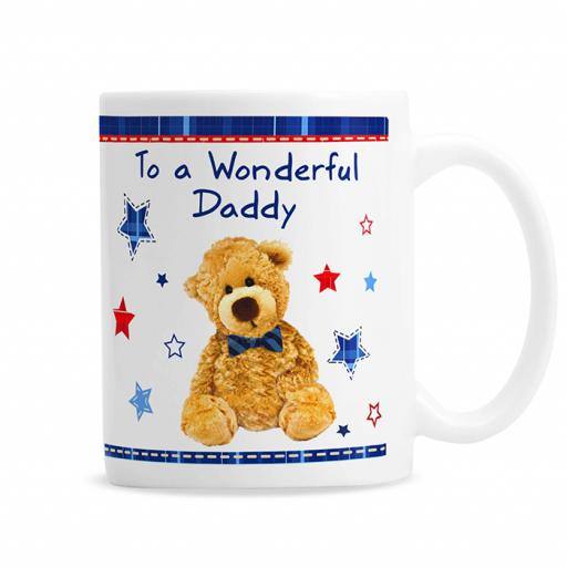 Personalised Teddy Bow Tie Mug