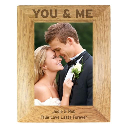 Personalised 5x7 Wooden Frame You & Me