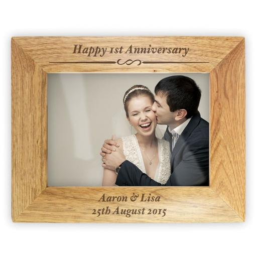 Personalised 5x7 Wooden Photo Frame Decorative Formal