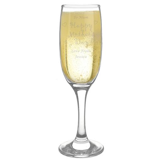 Personalised Happy Mother's Day Champagne Flute