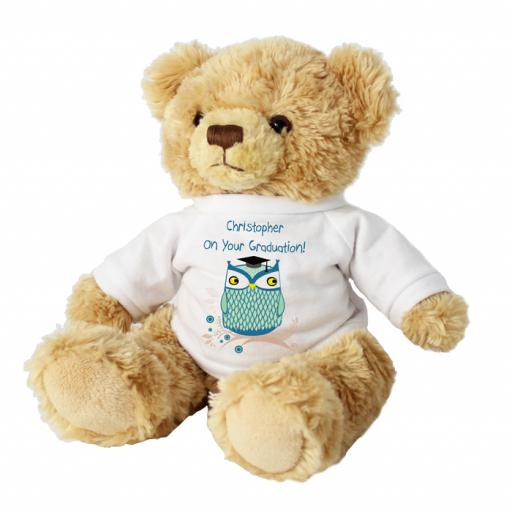 Personalised Message Teddy Bear Mr Owl