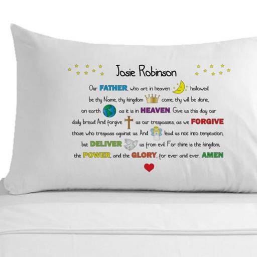 Personalised Pillowcase The Lord's Prayer Gift
