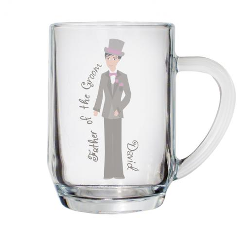 Personalised Fabulous Pint Tankard Glass Male Role