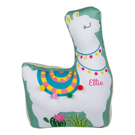 Personalised Green Llama Doorstop