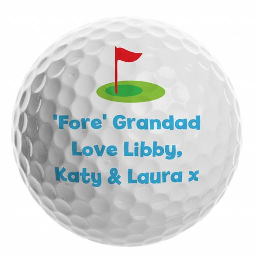 Personalised Flag Golf Ball Add Name / Role / Message