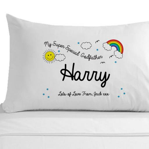 Personalised Pillowcase My Super Special Godfather