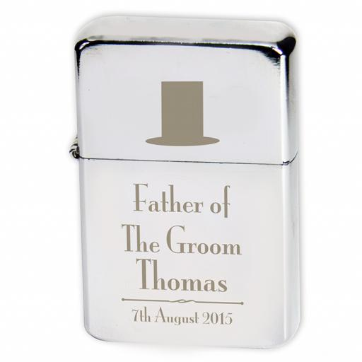 Personalised Lighter Wedding Top Hat Father Of The Groom
