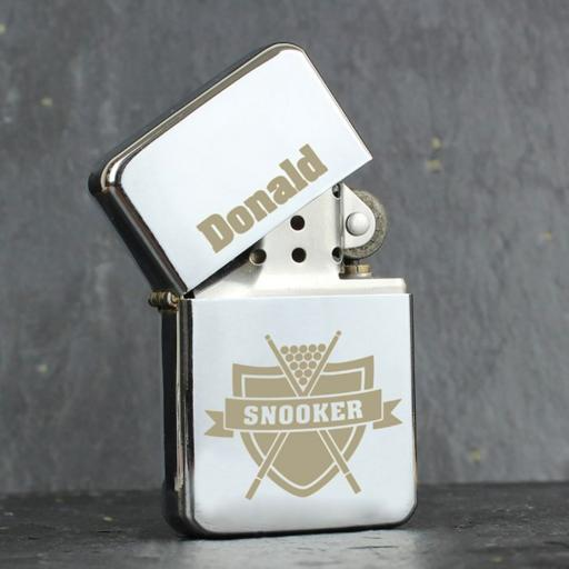 Personalised Lighter Snooker Add Name