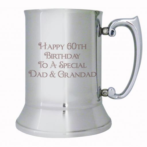Personalised Bold Message Design Stainless Steel Tankard