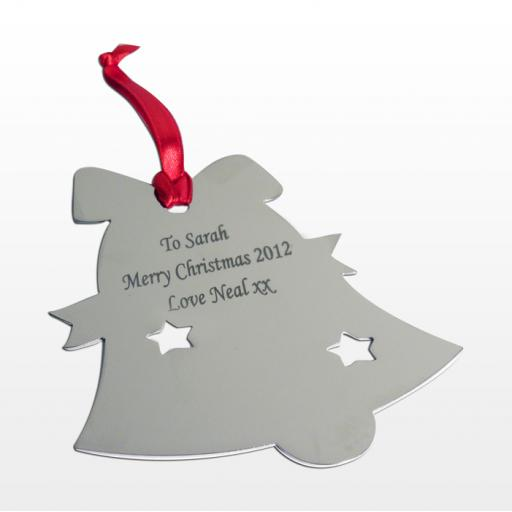 Personalised Christmas Tree Decoration Engraved Bell (3)