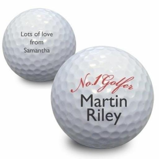 Personalised No 1 Golfer Golf Ball