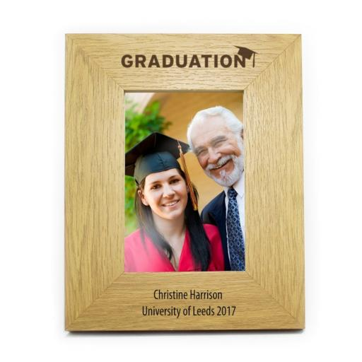 Personalised 6x4 Graduation Wooden Photo Frame