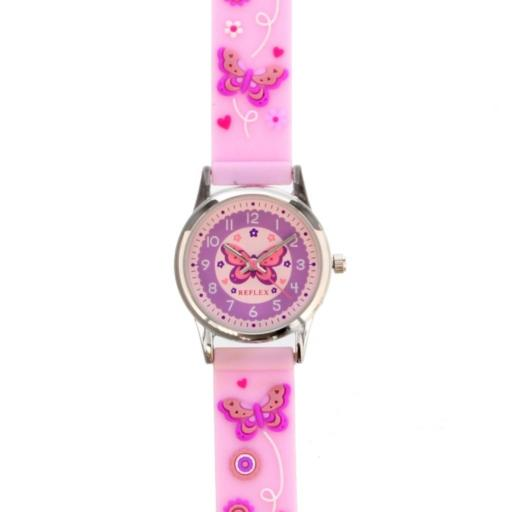 Personalised Children's Pink Butterfly Time Teacher Watch with Presentation Box