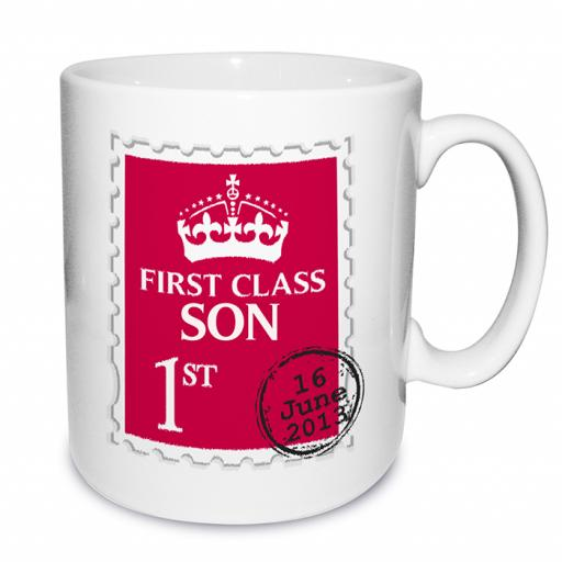 Personalised Mug 1st Class Stamp Design