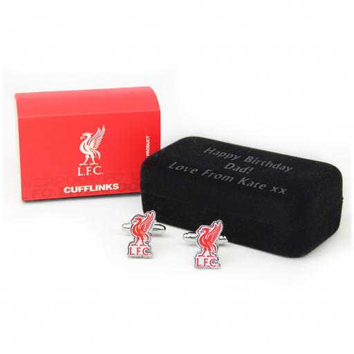 Liverpool Cufflinks in Personalised Presentation Box Official Merchandise