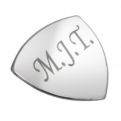 Personalised Engraved Silver Plated Plectrum