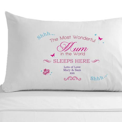 Personalised Wonderful Mum Pillowcase