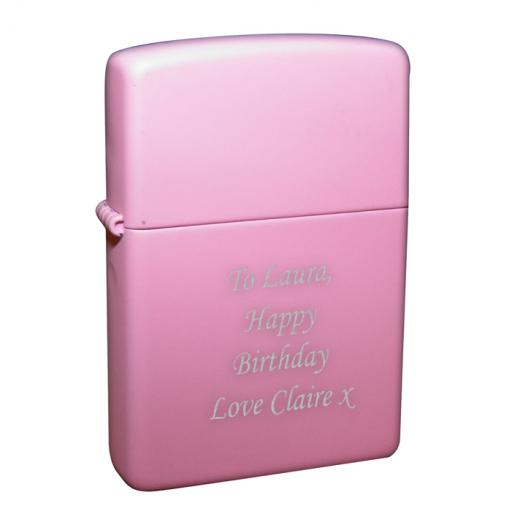 Personalised Lighter Pink