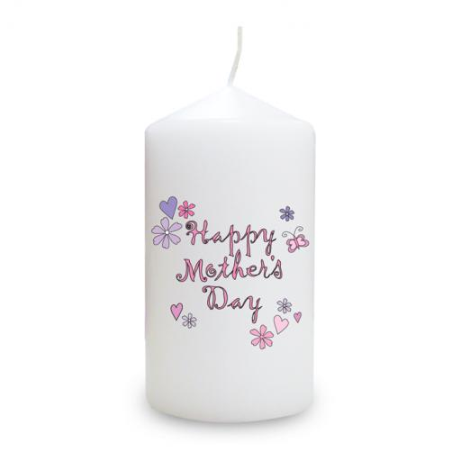 Happy Mother's Day Candle Small Hearts
