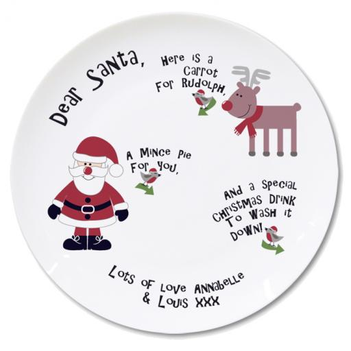 Personalised Christmas Eve Mince Pie Plate
