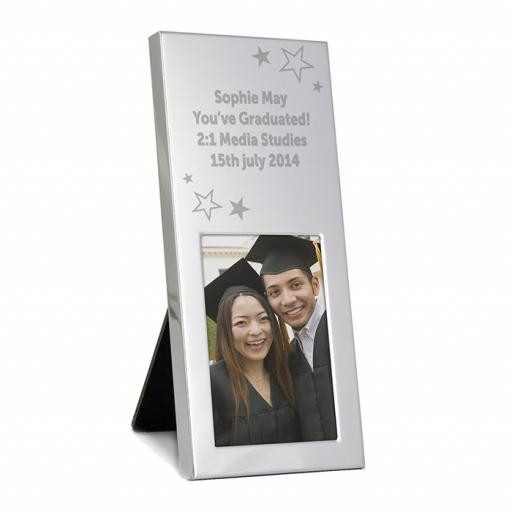 Personalised Oblong Photo Frame - Stars Motif