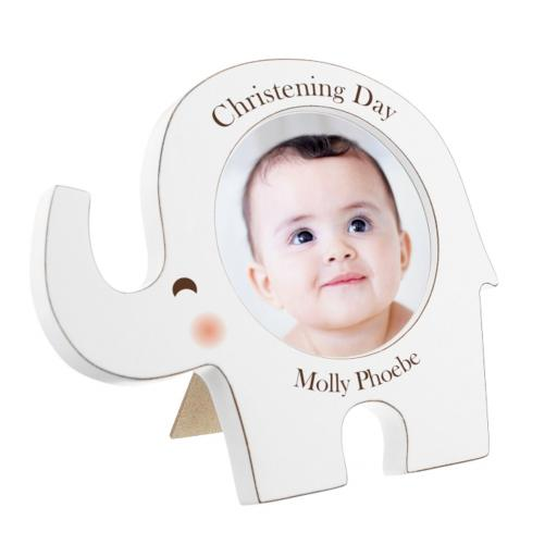 Personalised White Elephant Photo Frame