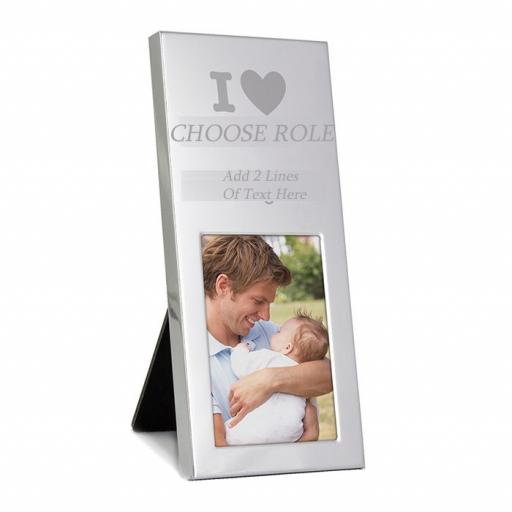 I Heart Personalised Oblong Photo Frame