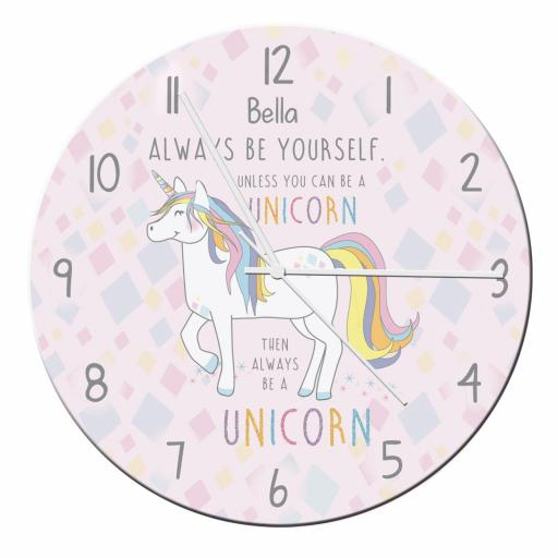 Personalised Always Be A Unicorn Wall Clock