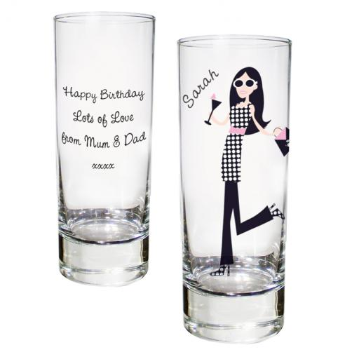 Personalised Fabulous Girl Caricature Shot Glass