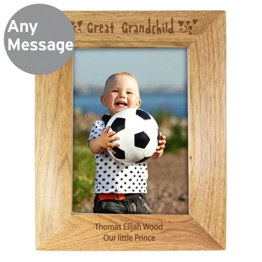 Personalised 5x7 Great Grandchild Wooden Frame