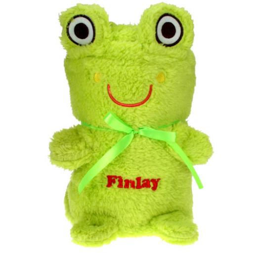 Personalised Soft Cuddly Frog Baby Blanket