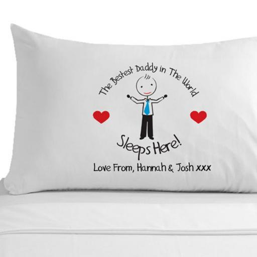 Personalised Pillowcase Best Daddy in the World