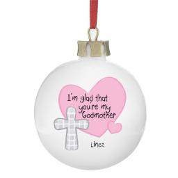 Personalised Christmas Tree Bauble Godmother