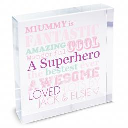 Personalised She Is Glass Crystal Block Keepsake
