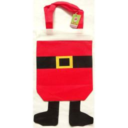Santa Shopper/Gift Bag with Decorative Dangling Legs.