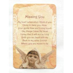 Mini Plastic Keepsake Card - Missing You