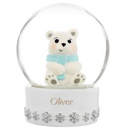 Personalised Polar Bear Snow Globe Any Name