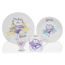 Personalised Nina Gymnast Breakfast Set