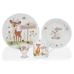 Personalised Woodland Breakfast Set