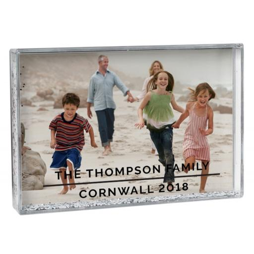 Personalised Classic 4x6 Landscape Glitter Shaker Photo Frame