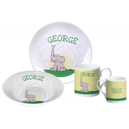 Personalised Elephant Breakfast Set