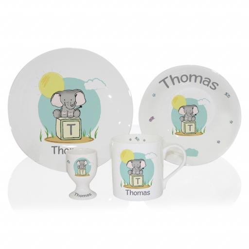 Personalised Elephant Safari Breakfast Set