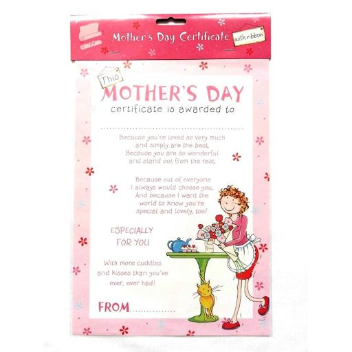 Mother's Day Paper Certificate
