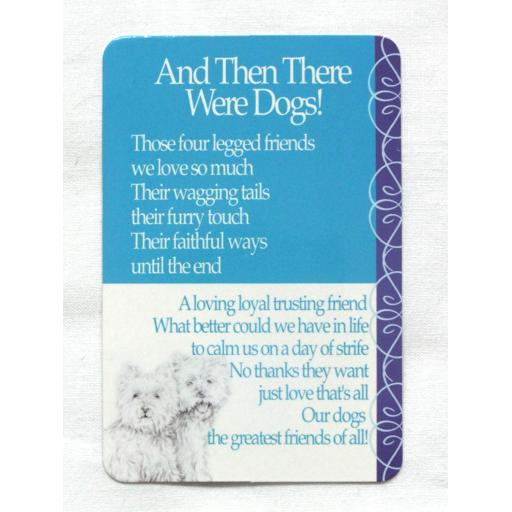 Mini Plastic Keepsake Card - And Then There Were Dogs