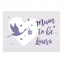 Personalised Mum to Be Stork Card