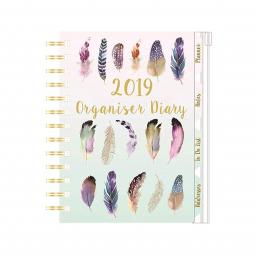 2019 Organiser Diary Feathers