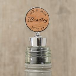 Personalised Wedding Bottle Stopper