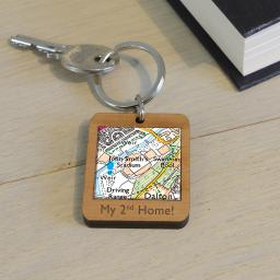 Personalised Wooden Huddersfield Town-John Smith's Stadium Map Keyring