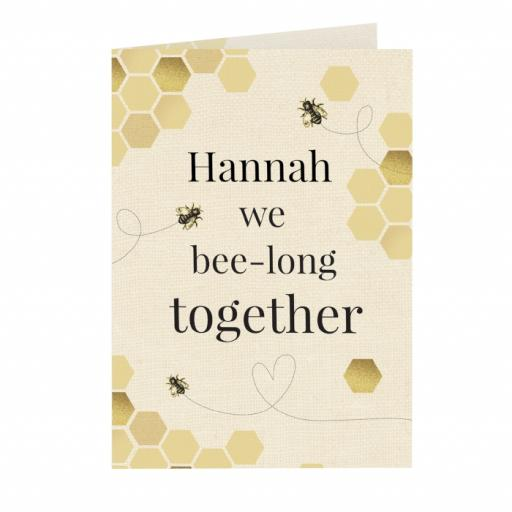 Personalised We Bee-long Together Card
